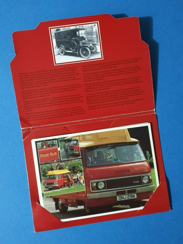 1981 Carrying the Royal Mail Postcards Set of 6 In Wallet, Post Transport BT7