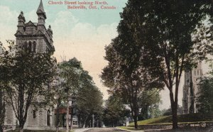 BELLEVILLE, Ontario, Canada, 1900-1910's; Church Street Looking North