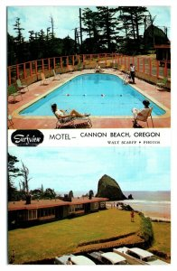 1968 Surfview Motel, Cannon Beach, OR Postcard *6L(2)18