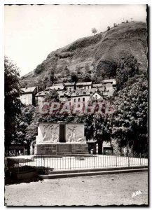 Postcard Old Murat Cantal Town Square Hotel and the Monument to deported