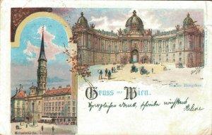 Austria Gruss aus Wien Litho 03.42