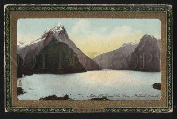 102404 New Zealand Mitre peak and the lion Milford sound TUCK