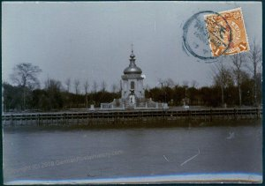 Germany 1913 China TIENTSIN Cemetery Original Photograph Stamp As Postcard 91362