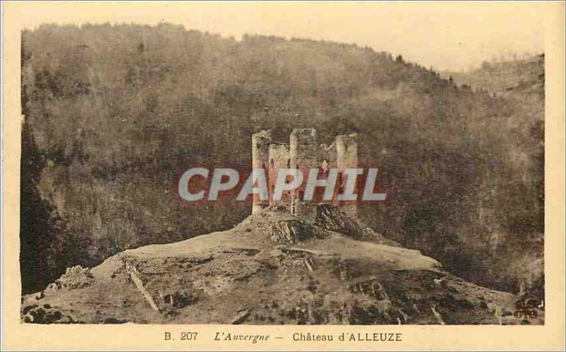 Old Postcard Auvergne Chateau of Alleuze