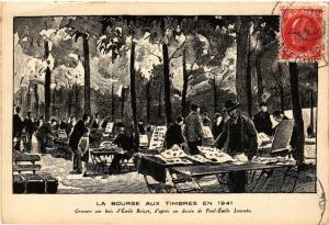 CPA PARIS (8e) La Bourse aux Timbres en 1941 (564043)