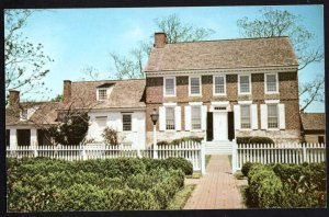 Delaware DOVER Dickinson Mansion Built by Judge Samuel Dickinson 1740 Chrome