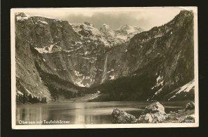 Germany Postmarked 1937 Obersee mit Teufelshorner J Hillebrand RPPC