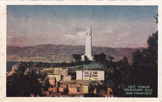 California San Francisco Coit Memorial Tower Telegraph Hill