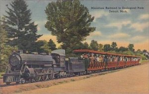 Michigan Detroit Zoological Park Miniature Railroad 1943