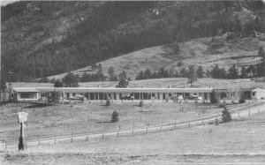 Autos Green Mountain Falls Colorado Motel X roadside 1940s Postcard 3174
