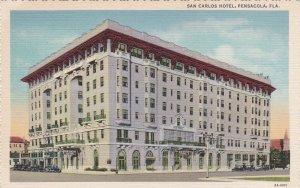 Florida Pensacola San Carlos Hotel Curteich sk6074