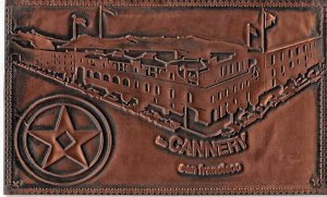 Copper Post Card Scan Francisco Cannery Engraved Copper Unused