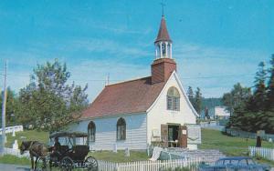Exterior,  Old Indian Church, Tadoussac, P. Quebec,  Canada, 40-60s