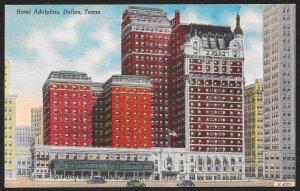 Hotel Adolphus Dallas Texas Unused c1940s