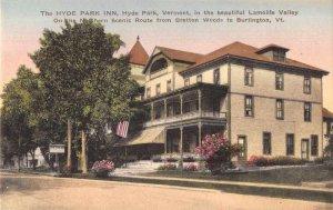 Burlington Vermont Hyde Park Inn Vintage Postcard AA7199