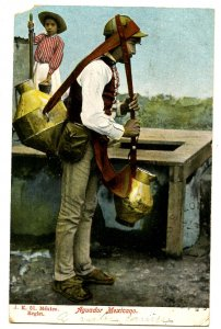 Mexico - Aguador, Water Carrier.     (corner missing)