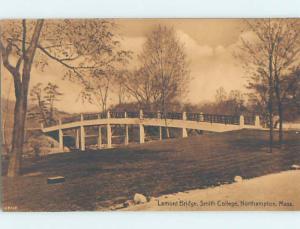Unused Divided-Back SMITH COLLEGE BRIDGE Northampton Massachusetts MA H8386