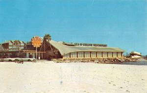Biloxi Mississippi Cabana Beach Motel Street View Vintage Postcard K102576