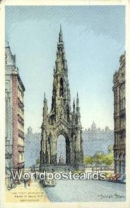 Scott Monument Edinburgh Scotland, Escocia Postal Used Unknown, Missing Stamp