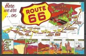 United States - Route 66 Main Street Of America Multi-view - [MX-340]