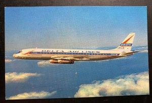 Mint Usa Color Picture Postcard Delts Air Lines Dc 8 Jet Mainliner