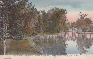 Along the Red River - Grand Forks ND, North Dakota - pm 1908 - DB