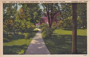 Tennessee Johnson City Campus Scene And Girls Dormitory East Tennessee State ...