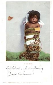 A Pima Baby 1902 Detroit Publishing c5