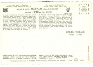 Canada, Motel & Hotel BELLE PLAGE, Matane, sur-Mer by the sea, P.Q. unused