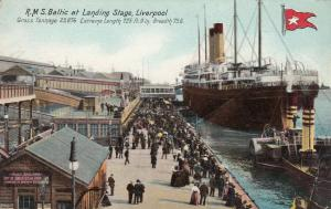 LIVERPOOL, England, 00-10s ; R.M..S. BALTIC at landing stage