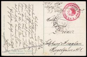 Austria 1917 WWI Submarine UBoot Station Pola Croatia Feldpost Cover 72102