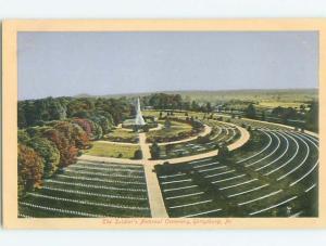 Divided-Back CIVIL WAR CEMETERY Gettysburg Pennsylvania PA W6018