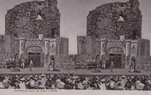 Stereoscope Postcard ; Historical Play at Flint Castle , UK , 00-10s ; TUCK 2218