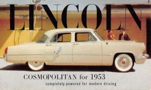 Lincoln Cosmopolitan 1953 Early Auto Car Vintage Postcard K85635