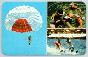 Acapulco Mexico Parasailing, Skiing, Scuba Diving @ Las Brisas Hotel~1950s