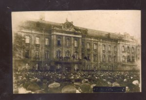 REAL PHOTO PETERSBURG RUSSIA 1905 REVOLUTION COLLEGE CROWD POSTCARDE COPY