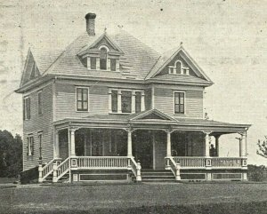 Office and Residence of G. W. Carr Alcyon Park House New Jersey Postcard