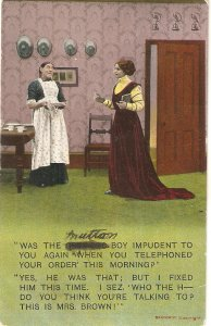 Comic scene. Was the boy impudent to you .. Bamforth humorous PC Serie # 1818