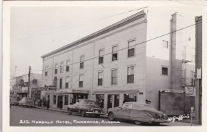 Alaska Fairbanks Nordale Hotel Old Cars Real Photo sk2998