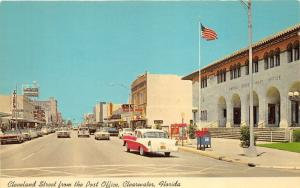 Clearwater Florida~Cleveland Street~Post Office (Signs)~Storefronts~50s Car