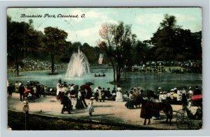 Cleveland OH-Ohio, Brookside Park, Vintage c1908 Postcard