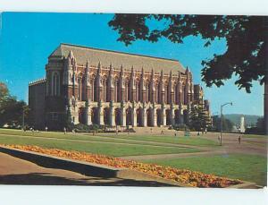 Unused Pre-1980 LIBRARY AT UNIVERSITY Seattle Washington WA r8702
