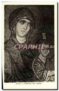 Old Postcard Daphni The Adoration of the Magi