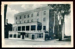 dc1894 - DRUMMONDVILLE Quebec Postcard 1943 Hotel Manoir