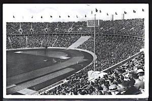 Summer Olympic Games Berlin 1936 Olympic Stadium Track & Field RPPC