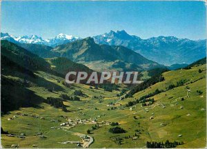 Postcard Modern Col des Mosses Dents de Morcles Massif du Mont Blanc Trient