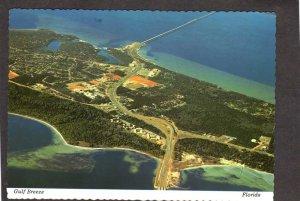 FL Aerial view Gulf Breeze Florida Postcard 3 mile bridge nr Pensacola