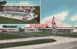 c1950's ROYAL PALMS MOTEL August GA, Col. W.E. (Abe) Jackson, Owner, 2 views