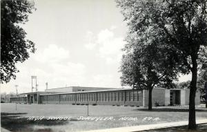 Schuyler Nebraska~High School on One Floor~Gymnasium~c1950 Real Photo Postcard