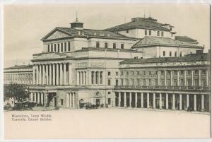 Warszawa, Teatr Wielki. Varsovie, Grand theatre